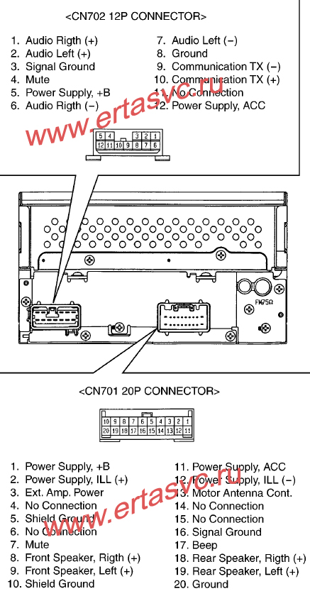 Подключение CD-MP3 чейнджера